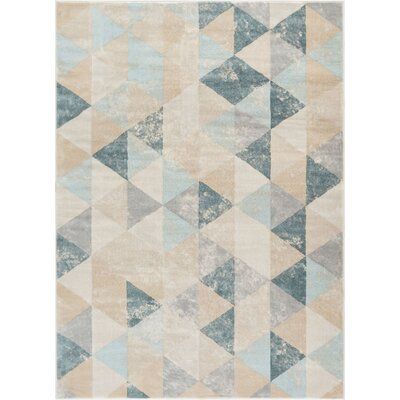 Aya Geometric Nordic Cream Area Rug Rug Size: Rectangle 53 x 73