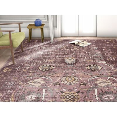 Aya Oriental Classic Lavender Area Rug Rug Size: Rectangle 53 x 73