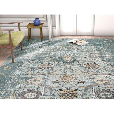 Aya Classic Blue Area Rug Rug Size: Rectangle 53 x 73