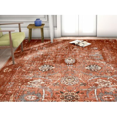 Aya Oriental Classic Copper Area Rug Rug Size: Rectangle 311 x 57