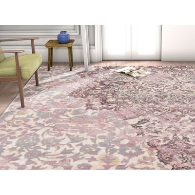 Aya Medallion Lavender Area Rug Rug Size: Rectangle 710 x 106