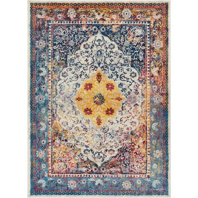 Binstead Modern Vintage Yellow Area Rug Rug Size: Rectangle 53 x 73
