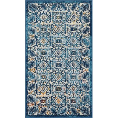 Binstead Modern Vintage Blue Area Rug Rug Size: Rectangle 2'3