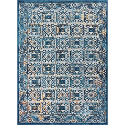Binstead Modern Vintage Blue Area Rug Rug Size: Rectangle 3'11'' x 5'3''