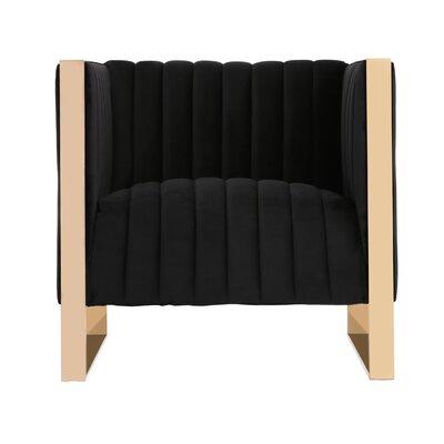 Layden Armchair Upholstery: Black