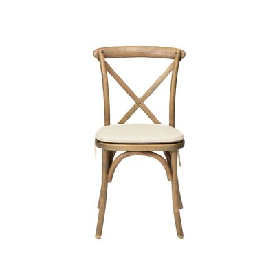 Hibbler Cross Back Stackable Solid Wood Dining Chair Color: Tinted Raw