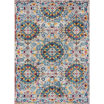 Binstead Mid Century Modern Beige Area Rug Rug Size: Rectangle 710 x 910