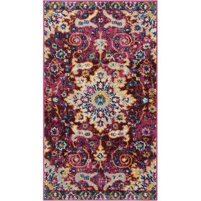 Binstead Wonderly Modern Persian Oriental Floral Lavendar Area Rug Rug Size: Rectangle 23 x 311