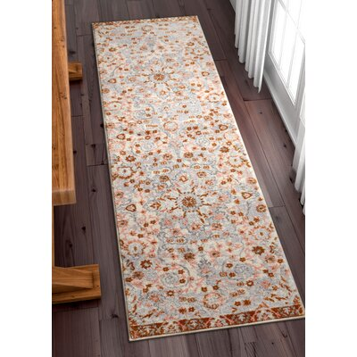 Binstead Wonderly Modern Persian Oriental Floral Gray Copper Area Rug Rug Size: Runner 23 x 73