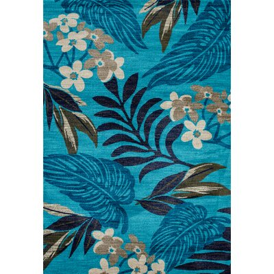 Lynbrook Aqua Area Rug Size: Rectangle 92 x 124