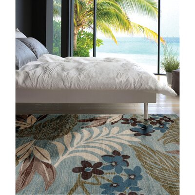 Lynbrook Blue/Brown Area Rug Size: Rectangle 92 x 124