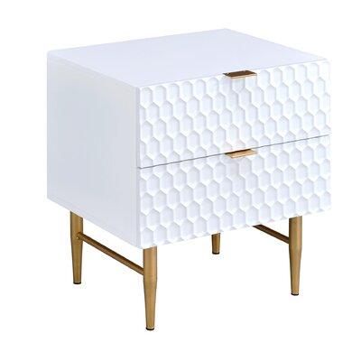 Cutrer 2 Drawer Nightstand