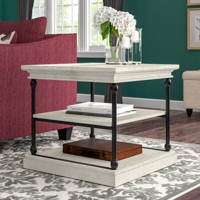 Gail End Table Color: Antique White