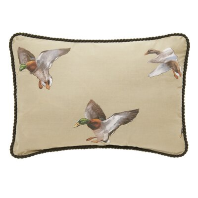 Talbott Duck Approach Tan Oblong Cotton Lumbar Pillow