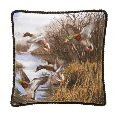 Talbott Duck Approach Corded Square Cotton Throw Pillow