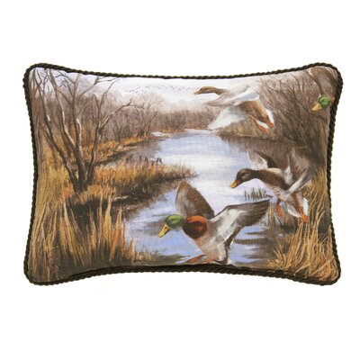 Talbott Duck Approach Oblong Cotton Lumbar Pillow