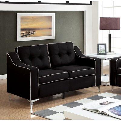 Glendora Loveseat Upholstery : Black