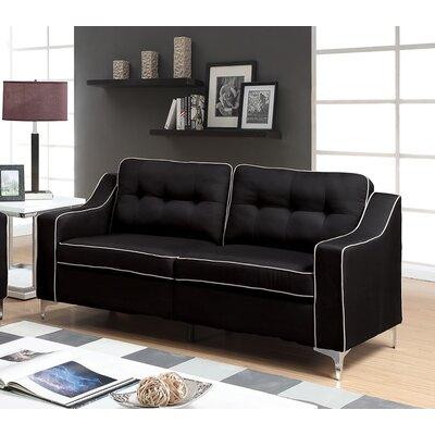Glendora Sofa Upholstery : Black