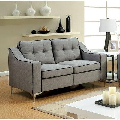 Glendora Loveseat Upholstery : Gray