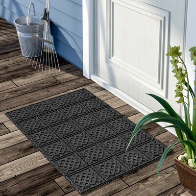 Gladiola Lattice Doormat Color: Dark Gray, Mat Size: Rectangular 2 x 3