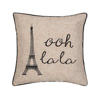 Hoggard Ooh La La Paris Embroidered Throw Pillow