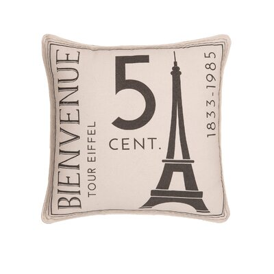 Hoggan From Paris with Love Embroidered Throw Pillow