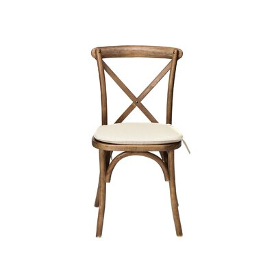 Hibbler Cross Back Stackable Solid Wood Dining Chair Color: Dark Walnut