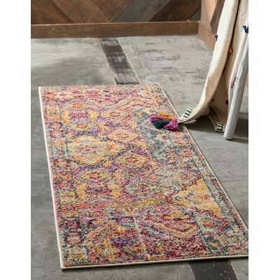 Piland Red/Orange Area Rug Rug Size: Runner 22 x 6