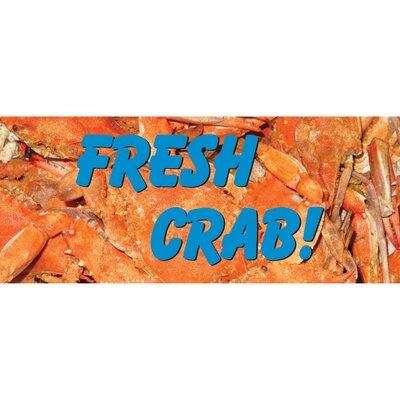 Fresh Crab Banner Size: 30 H x 72 W