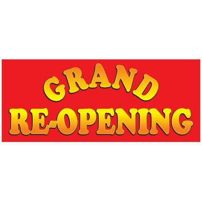 Grand Opening Banner Size: 30 H x 72 W