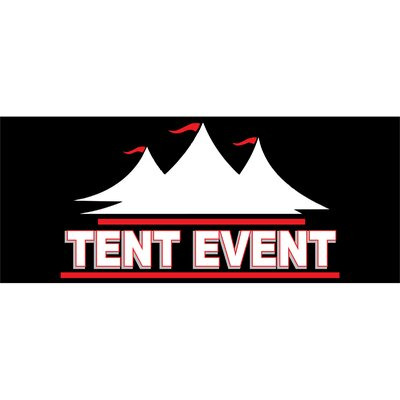 Tent Event Banner Size: 30 H x 72 W x 0.25 D