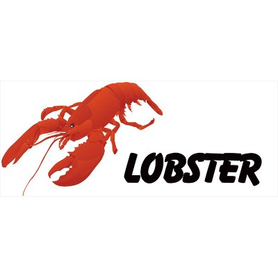 Lobster Banner Size: 30 H x 72 W