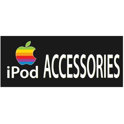 Ipod Banner Size: 30 H x 72 W x 0.25 D