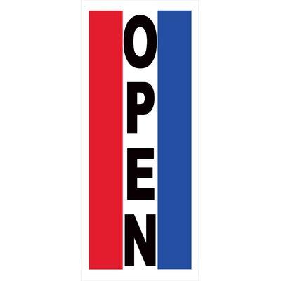 Open Vertical Banner Size: 30 H x 72 W x 0.25 D