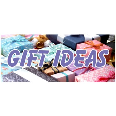 Holiday Gifts Banner Size: 30 H x 72 W x 0.25 D