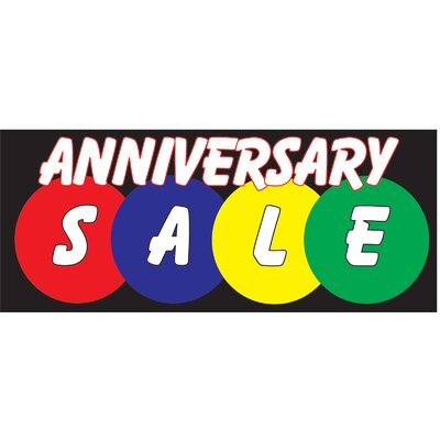 Anniversary Sale Banner Size: 30 H x 72 W x 0.25 D