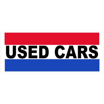 Used Cars Banner Size: 30 H x 72 W x 0.25 D