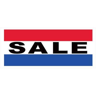 Sale Banner Size: 30 H x 72 W x 0.25 D