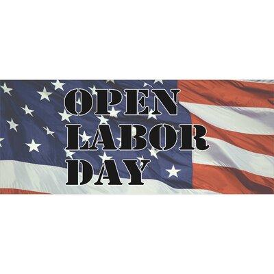Labor Day Banner Size: 30 H x 72 W x 0.25 D