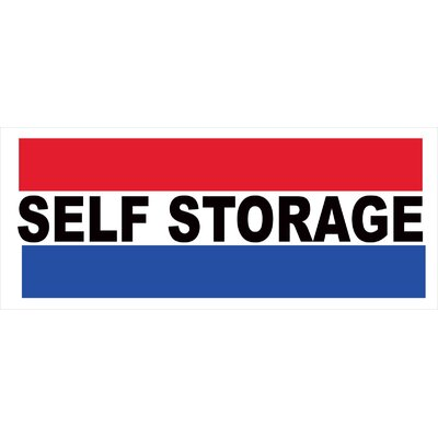 Self Storage Banner Size: 30 H x 72 W