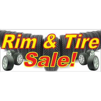 Rim and Tire Banner Size: 30 H x 72 W
