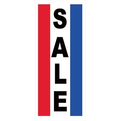 Sale Vertical Banner Size: 72 H x 30 W x 0.25 D