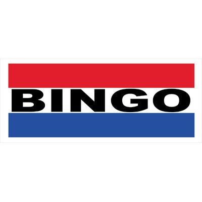 Bingo Banner Size: 30 H x 72 W