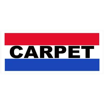 Carpets Banner Size: 30 H x 72 W