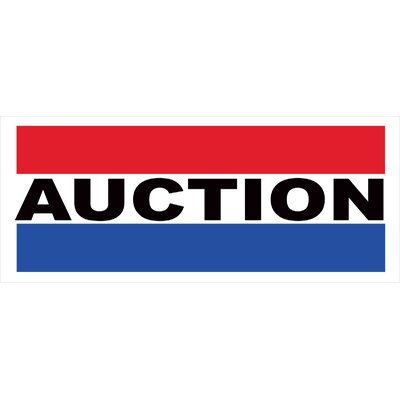 Auction Banner Size: 30 H x 72 W