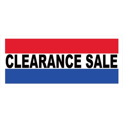 Clearance Sale Banner Size: 30 H x 72 W