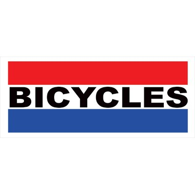 Bicycles Banner Size: 30 H x 72 W