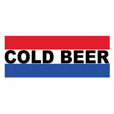Cold Beer Banner Size: 30
