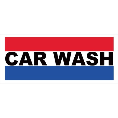 Car Wash Banner Size: 30 H x 72 W