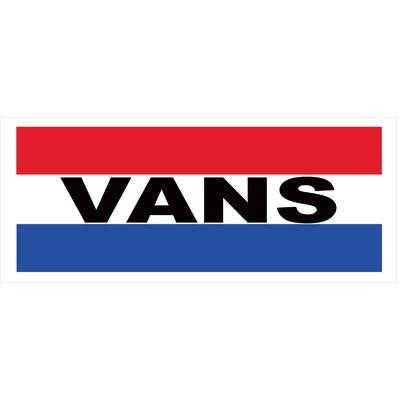 Vans Banner Size: 30 H x 72 W
